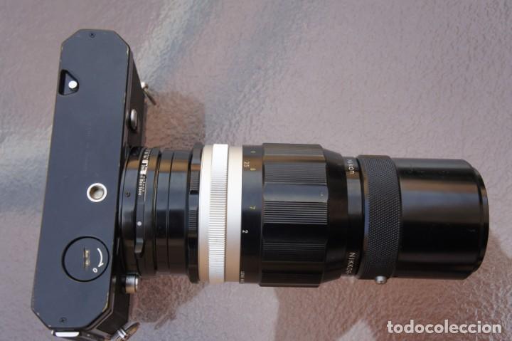 Cámara de fotos: NIKKORMAT NEGRA Con 200 F/4.Como nuevo. - Foto 6 - 222569075
