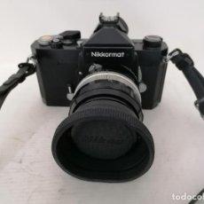 Câmaras de fotos: CAMARA NIKKORMAT NEGRA, MODELO N - FT 4710948, OBJETIVO F-50 MM, FUNCIONA, MADE IN JAPAN. Lote 223130548