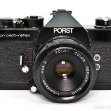 Cámara de fotos: PORST COMPACT-REFLEX (COSINA CSM) NEGRO + PORST COLOR REFLEX 55MM F2.8. Lote 225454615