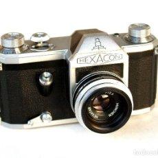 Cámara de fotos: *C1955* • PENTACON HEXACON (= CONTAX D) EXPORT US RÉFLEX SLR • HEXATAR MÜNCHEN F2.8 45MM. Lote 226166021