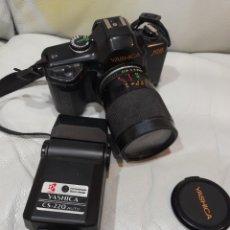 Cámara de fotos: CÁMARA FOTOGRAFICA REFLEX YASHICA 108 Y FLASH. Lote 227032055