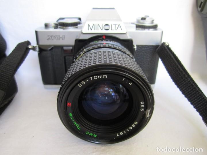 Cámara de fotos: Cámara MINOLTA XG-1, Objetivo 35-70 mm., Flash Osram V-250 Studio, maletín y manual en español - Foto 3 - 227103975