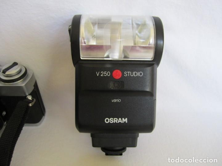 Cámara de fotos: Cámara MINOLTA XG-1, Objetivo 35-70 mm., Flash Osram V-250 Studio, maletín y manual en español - Foto 5 - 227103975