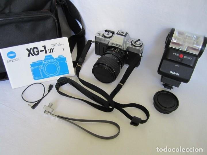 Cámara de fotos: Cámara MINOLTA XG-1, Objetivo 35-70 mm., Flash Osram V-250 Studio, maletín y manual en español - Foto 6 - 227103975