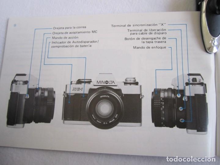 Cámara de fotos: Cámara MINOLTA XG-1, Objetivo 35-70 mm., Flash Osram V-250 Studio, maletín y manual en español - Foto 14 - 227103975