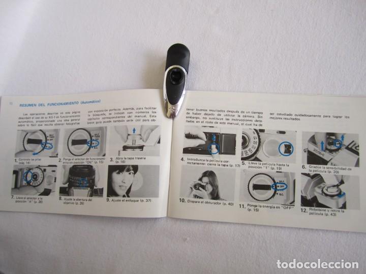 Cámara de fotos: Cámara MINOLTA XG-1, Objetivo 35-70 mm., Flash Osram V-250 Studio, maletín y manual en español - Foto 16 - 227103975