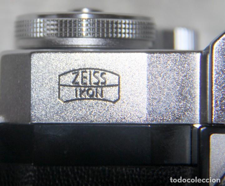Cámara de fotos: Zeiss Ikon Contaflex SUPER-OBJETIVO Synchro-compur Carl Zeiss Tessar 2.8/50 mm + FLASH + FUNDA PIEL - Foto 3 - 227648570