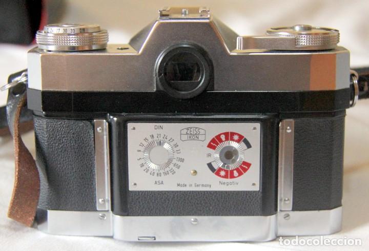 Cámara de fotos: Zeiss Ikon Contaflex SUPER-OBJETIVO Synchro-compur Carl Zeiss Tessar 2.8/50 mm + FLASH + FUNDA PIEL - Foto 5 - 227648570