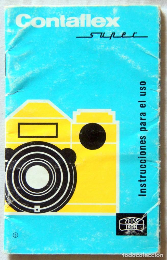 Cámara de fotos: Zeiss Ikon Contaflex SUPER-OBJETIVO Synchro-compur Carl Zeiss Tessar 2.8/50 mm + FLASH + FUNDA PIEL - Foto 14 - 227648570
