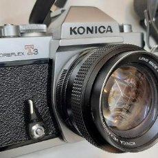Cámara de fotos: CAMARA ANALOGICA KONICA T3 COMO NUEVA OBJETIVO DE 50 MM 1,4 + ZOOM SIGMA 75-200 Y ESTUCHES. Lote 227919355