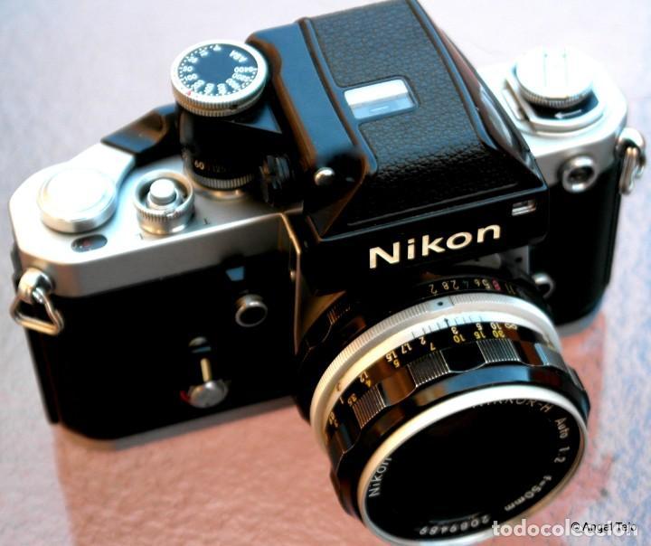 NIKON F2 IMPECABLE CON 50 F 1/2 (Cámaras Fotográficas - Réflex (no autofoco))