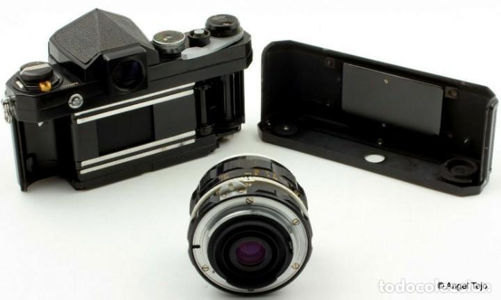 Cámara de fotos: NIKON F BLACK.con prisma SF y 35 mm F/2,8 - Foto 12 - 228159535