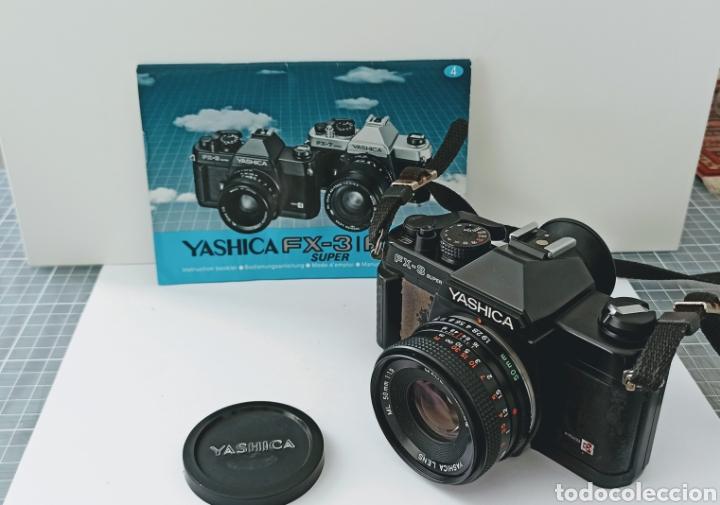 Cámara de fotos: Cámara reflex YASHICA FX -3 súper con su funda e instrucciones - Foto 7 - 228343735