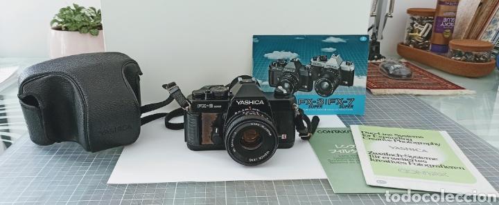 CÁMARA REFLEX YASHICA FX -3 SÚPER CON SU FUNDA E INSTRUCCIONES (Cámaras Fotográficas - Réflex (no autofoco))