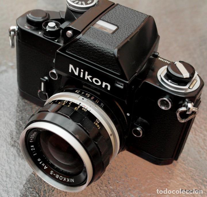 NIKON F2 NEGRA,ESTADO EXCEPCIONAL. (Cámaras Fotográficas - Réflex (no autofoco))