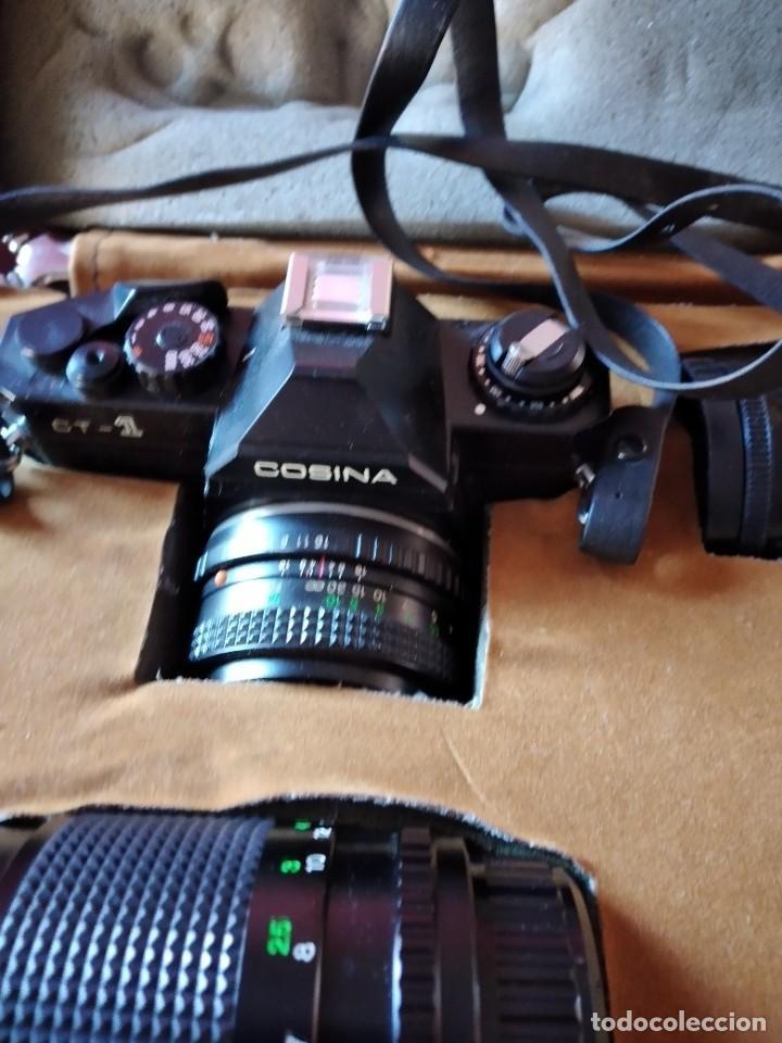 Cámara de fotos: cámara de fotos cosina ct-1 + 2 objetivos + maleta original, japan. - Foto 2 - 236270770
