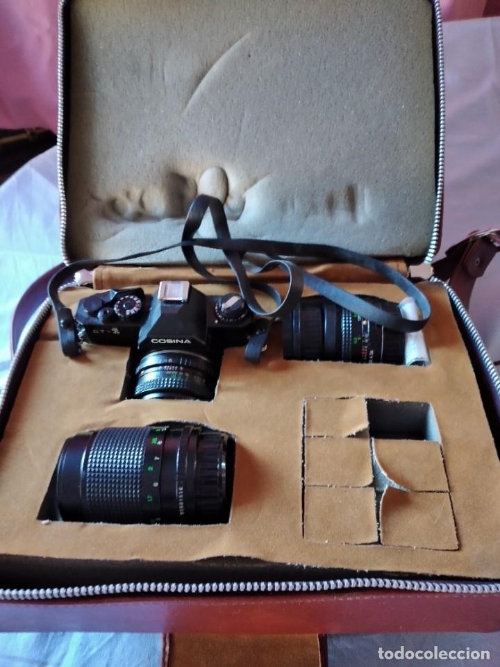 Cámara de fotos: cámara de fotos cosina ct-1 + 2 objetivos + maleta original, japan. - Foto 3 - 236270770