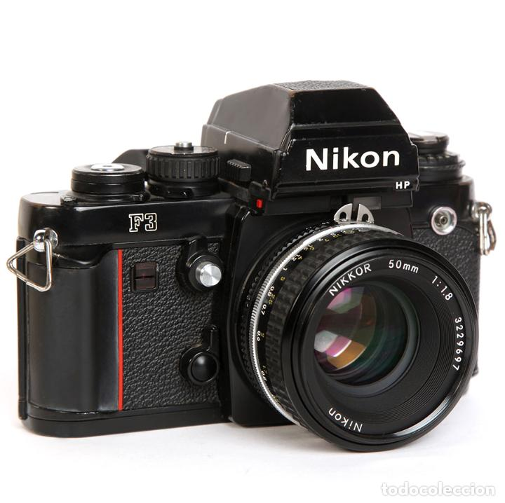 Cámara de fotos: NIKON F3 HP + MOTOR NIKON MD-4 + NIKKOR 50MM F1.8 AIS - Foto 3 - 240734980