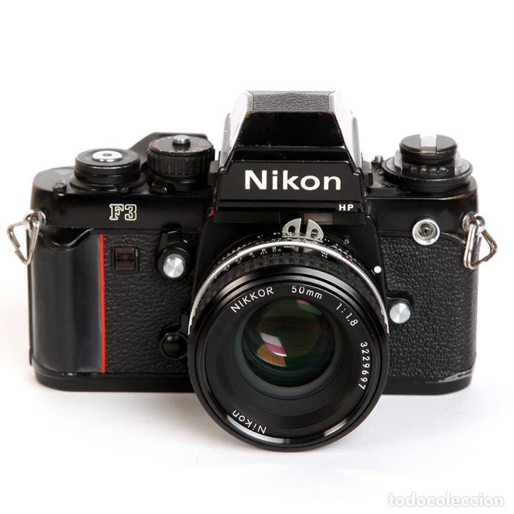 Cámara de fotos: NIKON F3 HP + MOTOR NIKON MD-4 + NIKKOR 50MM F1.8 AIS - Foto 4 - 240734980