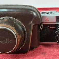 Cámara de fotos: CAMARA FOTOGRAFICA MINOLTA MODELO A-5. JAPÓN. FUNDA ORIGINAL DE CUERO. 1960.. Lote 240795190