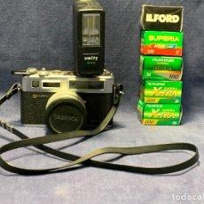 Cámara de fotos: CAMARA FOTOS YASHICA ELECTRO 35 GSN F 1.7 45MM COMPLEMENTOS CARRETES. Lote 243520015