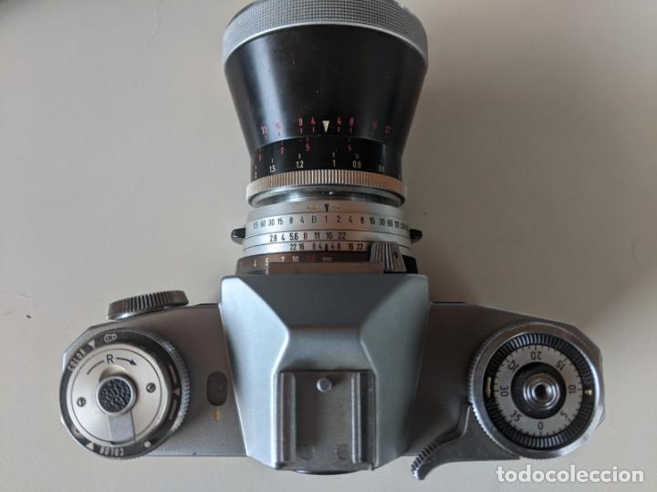 Cámara de fotos: ZEISS IKON CONTAFLEX I SYNCHRO COMPUR 1950 CON OBJETIVO ZEISS PRO-TESSAR 1:4 115 mm - Foto 12 - 221779068