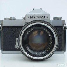 Câmaras de fotos: NIKOMAT FT-N CON OBJETIVO NIKON NIKKOR-S 50 MM 1.4 + FUNDA ORIGINAL NIKOMAT. Lote 252203440