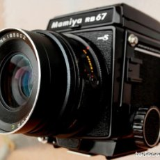 Photo camera: MAMIYA RB 67, MAMIYA RB67 ,VISOR, FILMBACK 120, Y LENTE SEKOR 90 F/3,8 IMPECABLE.. Lote 253492250
