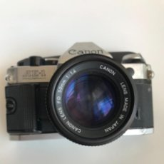 Câmaras de fotos: CAMARA CANON AE-1 PROGRAM + OBJETIVO CANON LENS FD 50MM 1:1.4; MADE IN JAPAN. Lote 253673585