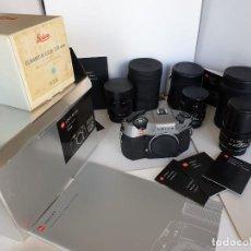 Cámara de fotos: CAMARA LEICA R9 SET 10 094 ANTRACITA + 2 OBJETIVOS. Lote 249581825