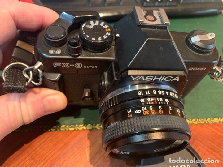 Cámara de fotos: Yashica Fe-3 súper 2000 + Lente Yashica 50 mm + manual instrucción y funda - Foto 4 - 254861685