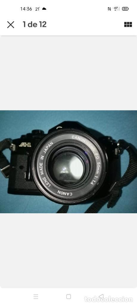 Cámara de fotos: Canon A1 + 3 objetivos originales + flhas + data - Foto 2 - 255395140