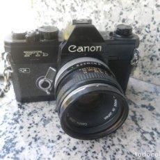 Fotocamere: CANON FTB QL CON UN CANON FD 50MM 1.8 SILVER NOSE. Lote 265697379