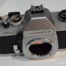 Câmaras de fotos: REFLEX A ROSCA M42, TOTALMENTE MECÁNICA HANIMEX 35 SL. JAPAN.. Lote 267227334