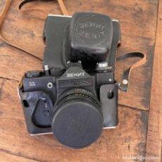 Cámara de fotos: CÁMARA DE FOTOS ZENIT 11 CON FUNDA DE CUERO. Lote 267346284