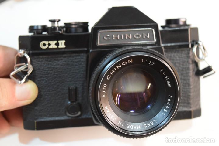 REFLEX CHINON FX2 CON LENTE 50 MM.MECÁNICA (Cámaras Fotográficas - Réflex (no autofoco))