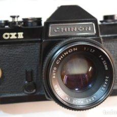 Cámara de fotos: REFLEX CHINON FX2 CON LENTE 50 MM.MECÁNICA. Lote 267350789