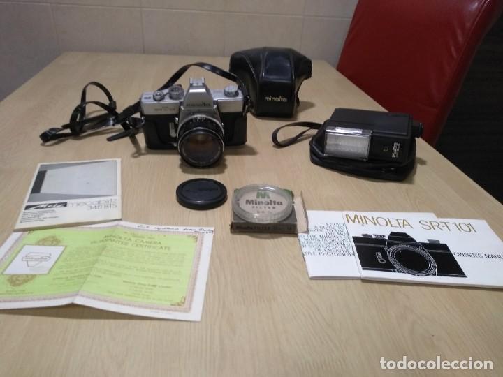 CÁMARA FOTOGRÁFICA.MINOLTA SRT 101 (Cámaras Fotográficas - Réflex (no autofoco))