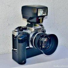Fotocamere: NIKON FE 35MM SLR + AIS - NIKKOR 50 MM F: 1.4 + WINDER + FLASH + FILTRO + PARASOL - TODOS DE NIKON. Lote 274868718