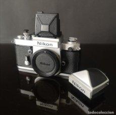 Cámara de fotos: CLASICA CAMARA REFLEX NIKON F2 PHOTONIC CROMO CON VISORES DE1 Y DW1 Nº SERIE 8013799. Lote 275882898
