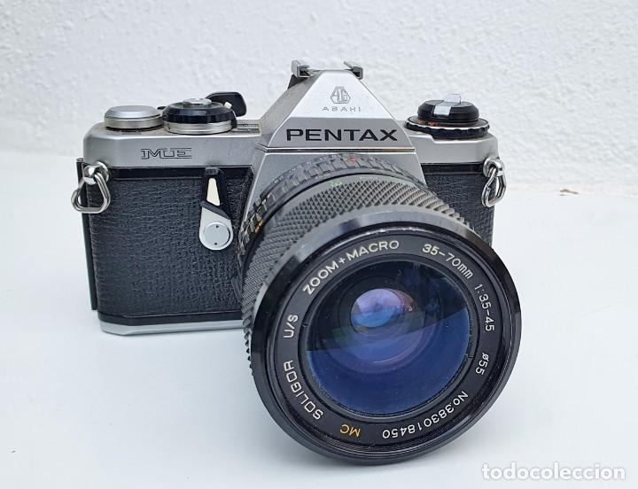 PENTAX ME - OBJETIVO SOLIGOR 35-70 MM / 3.5-4.5 (Cámaras Fotográficas - Réflex (no autofoco))