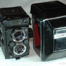 Cámara de fotos: CAMARA REFLEX DE 6X6 YASHICA 124 G CON ESTUCHE EN FUNCIONAMIENTO. Lote 284775673