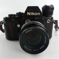 Câmaras de fotos: CÁMARA NIKON F3 CON DOS OBJETIVOS AF NIKKOR 50 MM 1:1.4 Y NIKKOR 35-135 MM. Lote 284813093