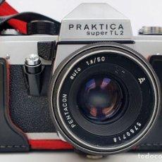 Câmaras de fotos: CÁMARA PRAKTICA SUPER TL 2 CON FUNDA + OBJETIVO. Lote 285126643