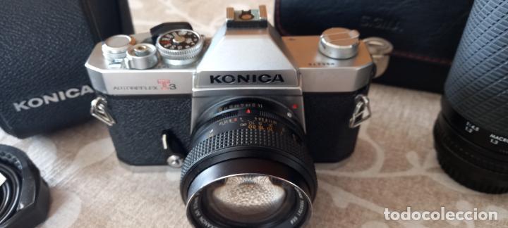 Cámara de fotos: CAMARA ANALOGICA KONICA TC 1 + OPTICA ORIGINAL 50 MM 1,4+ ESTUCHE ORIGINAL + ZOOM 70-200 SIGMA+FLASH - Foto 2 - 285967533