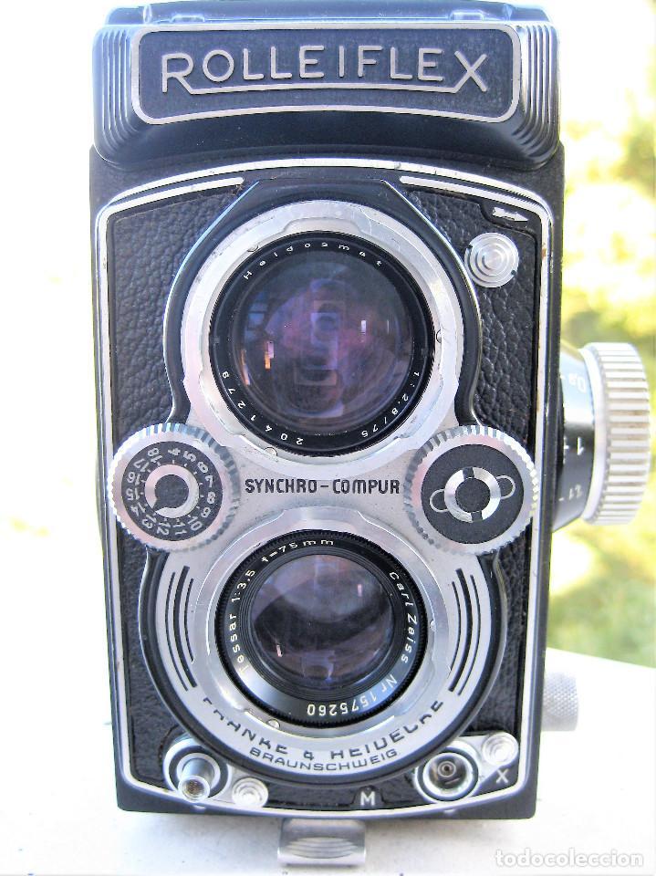 Cámara de fotos: CAMARA ROLLEIFLEX DBP DBGM EN PERFECTO ESTADO SIN USO, SALE DE COLECCIÓN PRIVADA. CON PROTECTORES - Foto 8 - 286706603