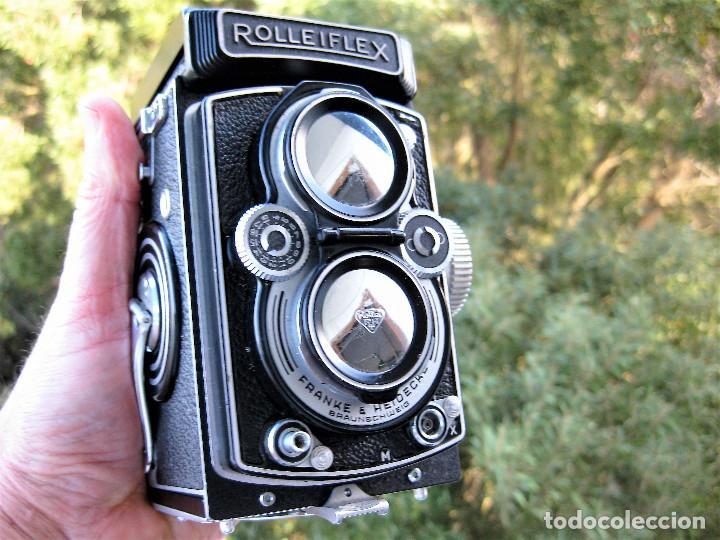 Cámara de fotos: CAMARA ROLLEIFLEX DBP DBGM EN PERFECTO ESTADO SIN USO, SALE DE COLECCIÓN PRIVADA. CON PROTECTORES - Foto 20 - 286706603