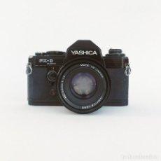 Cámara de fotos: CAMARA YASHICA FX-D QUARTZ A CARRETE+OBJETIVO 50MM F1.7. Lote 292143498