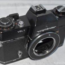 Cámara de fotos: PRESTIGIO,CALIDAD..PRIMER MODELO..VOIGTLANDER VSL 1 TM..REFLEX.SINGAPORE 1974..BUEN ESTADO..FUNCIONA. Lote 295533138