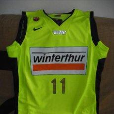 Coleccionismo deportivo: EQUIPACION ORIGINAL F.C. BARCELONA - WINTHERTUR. BALONCESTO. JUAN CARLOS NAVARRO. RARISIMA. Lote 41794491
